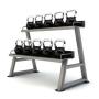 Jordan Set de 9 Kettlebells de neopreno (4-28 Kg) + Rack
