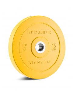 Titanium Strength HD Bumper Plates Colour 15 KG